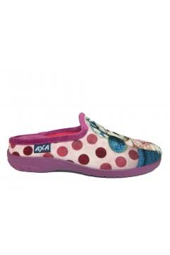 AXA 80280 Pantofole Donna in Panno Lilla Cagnolino Ciabatte e Infradito 80280LILL