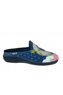 AXA 80292 Pantofole Donna in Panno Blu Gufo Luna Ciabatte e Infradito 80292BLU