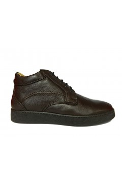 Interland 1235 Made in Italy Scarpe Uomo Polacchine in Vera Pelle Marrone CASUAL I1235TDM