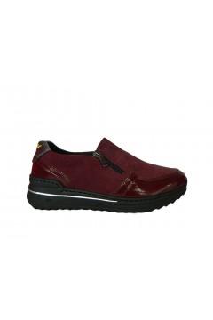 STILEDIVITA 7420 Sneakers Donna Slip On con Zip Ultra Soft Naplack Mix Bordeaux Francesine e Sneakers SDV7420NBRX