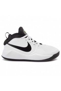 Nike Team Hustle D 9 (GS) AQ4224 100 Scarpe Basket Bianco Nero Francesine e Sneakers AQ4224100