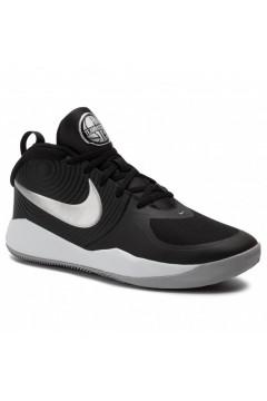 Nike Team Hustle D 9 (GS) AQ4224 001 Scarpe Basket Nero Silver Francesine e Sneakers AQ4224001