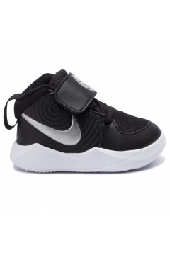 Nike Team Hustle D9 (TD) AQ4226 001 Scarpe da Ginnastica Mid Strappo Nero Scarpe Bambino AQ4226001