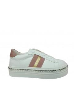 Gold & Gold GA139 Scarpe Donna Sneakers Platform Stringate Bianco  Francesine e Sneakers GA139BIA