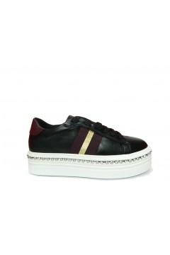 Gold & Gold GA139 Scarpe Donna Sneakers Platform Stringate Nero  Francesine e Sneakers GA139NR