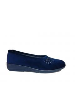 Patrizia AZ10 Pantofole Donna Ballerina Panno Blu Ciabatte e Infradito AZ10BLU