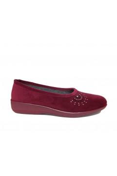 Patrizia AZ10 Pantofole Donna Ballerina Panno Bordeaux Ciabatte e Infradito AZ10BRX