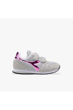 Diadora Simple Run PS Girl Scarpe da Ginnastica Bambina con Strappi Grey Alaska Scarpe Bambina 1011757750175042