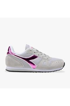 Diadora Simple Run GS Girl Scarpe da Ginnastica Stringate Grey Alaska Francesine e Sneakers 1011757760175042