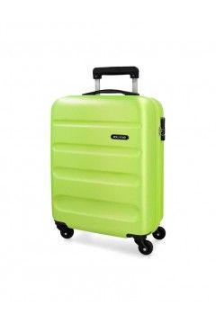 Roll Road FLEX 5849166 Trolley Cabina 55 cm 4 Ruote Rigido Verde Lime Trolley Rigidi 5849166LIME