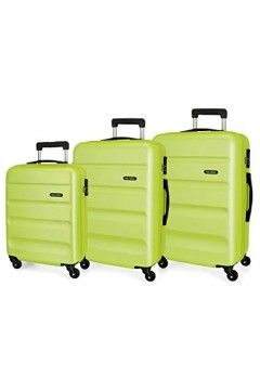 Roll Road FLEX 5849466 Set Trolley 4 Ruote Rigido Verde Lime Trolley Rigidi 5849466VLIME