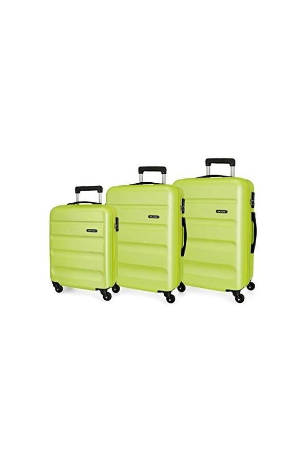 Roll Road FLEX 5849466 Set Trolley 4 Ruote Rigido Verde Lime Trolley Rigidi 5849466VLIME