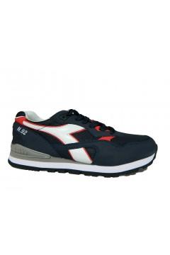 Diadora N. 92 Sneakers Uomo Stringate Blu Denim White Red SPORT 10117316901C2074
