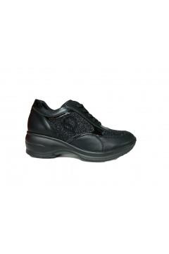 Queen Helena X21-13 Scarpe Donna Sneakers Stringate Nero Francesine e Sneakers X2113NR