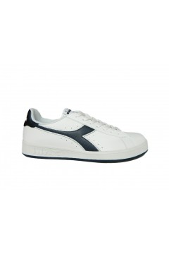 Diadora Game P Sneakers Uomo Stringate Bianco Blu Denim SPORT 10116028101C4656