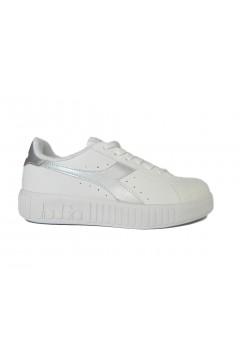 Diadora Game P Step WN Scarpe da Ginnastica Platform Bianco Silver Francesine e Sneakers 10117573701C6103