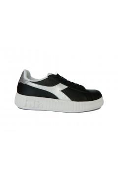 Diadora Game P Step WN Scarpe da Ginnastica Platform Nero Silver Francesine e Sneakers 1011757370180013