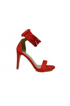Romeo Gigli 1004 Sandali Donna Tacco Alto con Bracciale Rosso  Sandali RG1004ROS