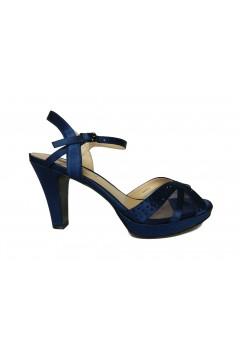 Queen Helena SW2609 Scarpe Donna Sandali Gioiello Tacco Alto Blu Sandali SW2609BLU