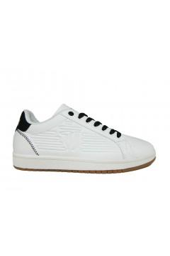 Trussardi Jeans 77A00215 Sneakers Uomo Stringate Bianco Nero Sneakers 77A00215WBLK