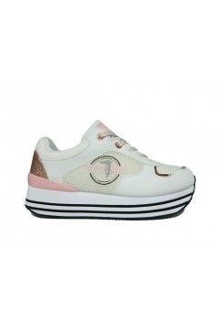 Trussardi Jeans 79A00472 Sneakers Donna Stringate Platform Bianco Pink Francesine e Sneakers 79A00472WP