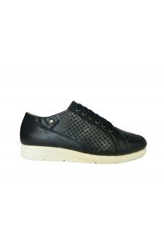 Divan 8797 Scarpe Donna Sneakers Stringate Vera Pelle Blu  Francesine e Sneakers D8797BLU