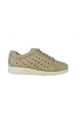 Divan 8368 Scarpe Donna Sneakers Stringate Vera Pelle Nabuck Beige  Francesine e Sneakers D8368BEI