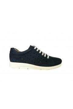 Divan 8368 Scarpe Donna Sneakers Stringate Vera Pelle Nabuck Blu  Francesine e Sneakers D8368BLU