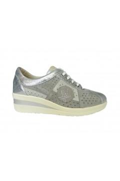 Divan Rivera 3263 Scarpe Donna Sneakers Stringate Vera Pelle Grigio  Francesine e Sneakers D3263GRI