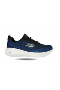Skechers 55105 BKBL Scarpe Uomo Running Stringate Blu  Scarpe Sport 55105BKBL