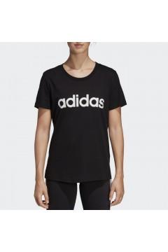 Adidas DP2361 T-Shirt Donna Essential Taglio Aderente Nero Abbigliamento Sportivo DP2361