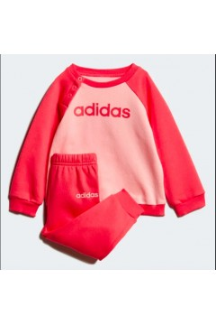 Adidas FM6574 Linear Fleece Jogger Tuta Completa Bambina 0-4 Anni Rosa  Abbigliamento Bambina FM6574