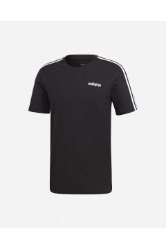 Adidas DQ3113 T-Shirt Uomo Essentials 3-Stripes Nero T-Shirts DQ3113