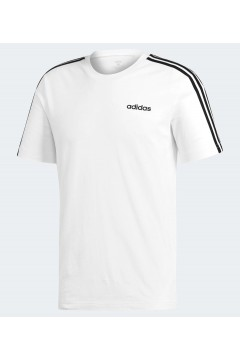Adidas DU0441 T-Shirt Uomo Essentials 3-Stripes Bianco T-Shirts DU0441
