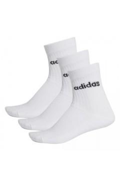 Adidas FJ7720 3 paia Calze con Logo Bianco  Abbigliamento Sportivo FJ7720