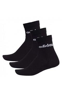 Adidas FJ7719 3 paia Calze con Logo Nero  Abbigliamento Sportivo FJ7719