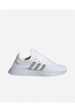 Adidas F34295 Deerupt Runner J Sneakers Unisex Bianco Francesine e Sneakers F34295