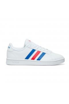 Adidas Grand Court EE7901 Sneakers Uomo Bianco 3 Stripes Rosso Blu  Scarpe Sport EE7901