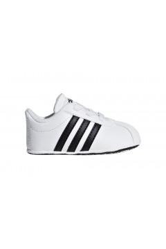 Adidas F36605 VL Court 2.0 CRIB Scarpe da Culla Bianco Nero Scarpe Bambino F36605