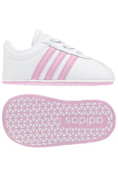 Adidas F36603 VL Court 2.0 CRIB Scarpe da Culla Bianco Rosa Scarpe Bambina F36603