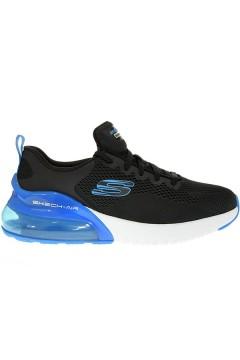 SKECHERS 232056 BKBL Scarpe da Ginnastica Air Memory Foam Nero Blu Scarpe Sport 232056BKBL