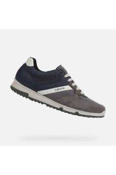 Geox U Wilmer C U023XC Sneakers Uomo Stringate Camoscio Mesh Grigio Sneakers MWILMER6