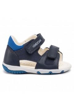 Geox B S. Elba B02L8B Sandali Bambino Primi Passi Doppi Strappi Blu Scarpe Bambino B02L8B01054C4226
