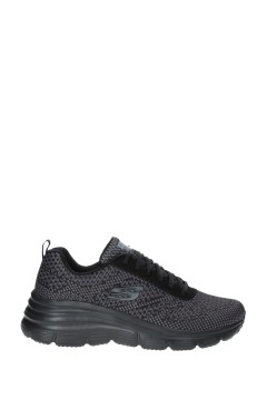SKECHERS 12719 BBK Sneakers Donna Memory Foam Zeppa Media Nero Francesine e Sneakers 12719BBK