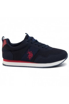 U. S. Polo Ass. EXTE Scarpe Uomo Sneakers Stringate Blu Rosso Sneakers EXTEDKBLRED