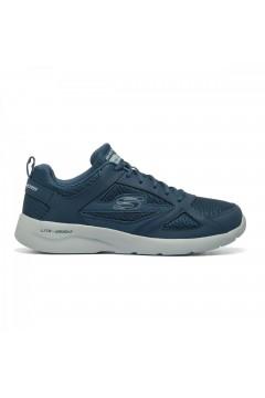 SKECHERS 58363 NVY Scarpe da Ginnastica Uomo Memory Foam Blu Scarpe Sport 58363NVY