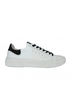 Romeo Gigli RG60201 Scarpe Uomo Sneakers Stringate Bianco Nero  Sneakers RG60201BNR