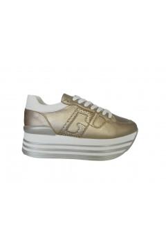 Gold & Gold GA425 Sneakers Donna Stringate Platform Oro Francesine e Sneakers GA425ORO