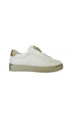 Gold & Gold GA241 Sneakers Donna Slip On con Pietre Bianco Oro Francesine e Sneakers GA241ORO