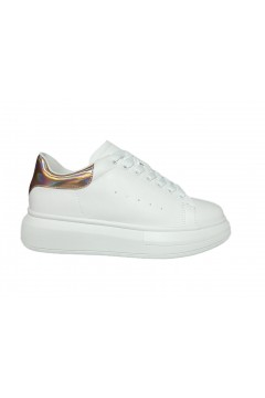 Gold & Gold GA233 Sneakers Donna Stringate Oversize Platform Bianco Oro Francesine e Sneakers GA233BORO